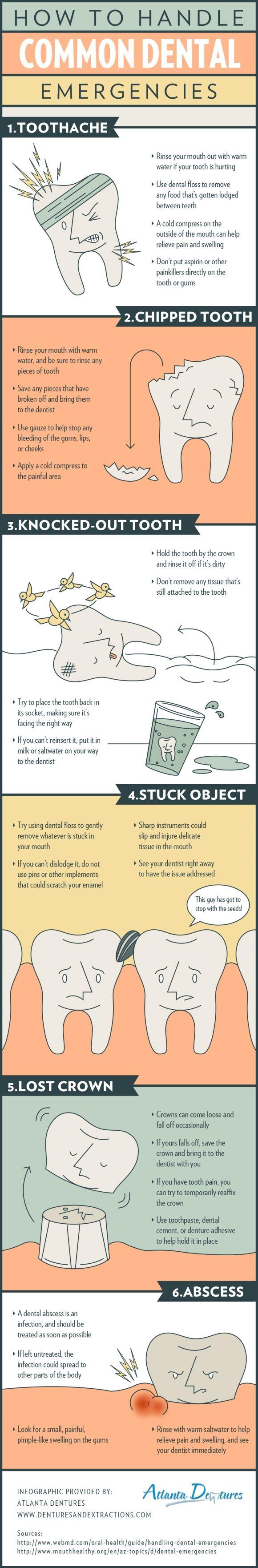 How to handle common dental emergencies! #dentist #oralhealth http://www.andregrenierdmd.com/
