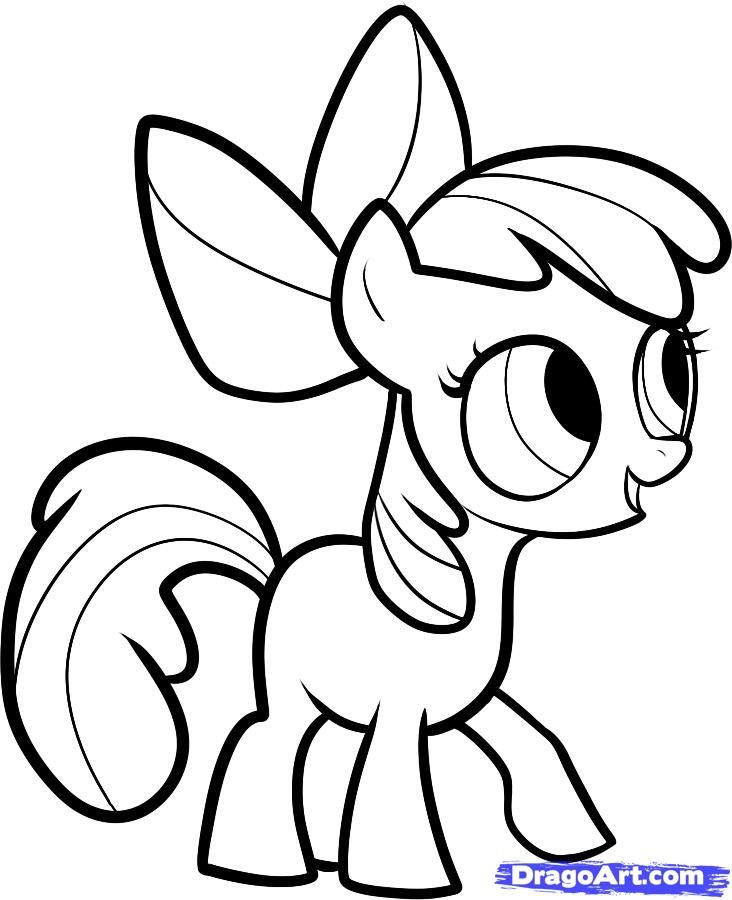 How To Draw Apple Bloom My Little Pony Step By