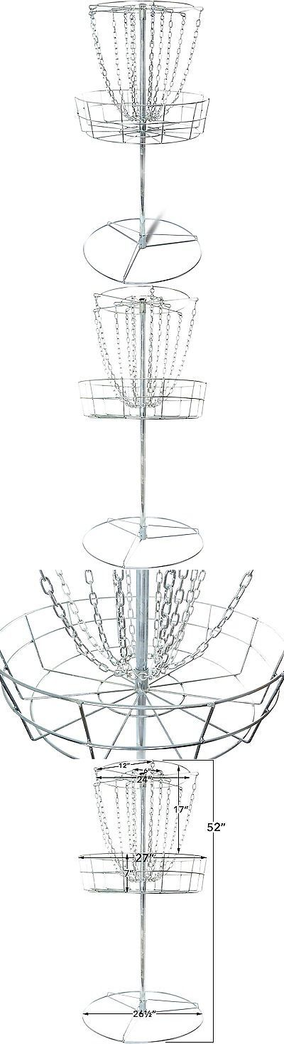 Disc Golf 20851: Titan Disc Golf Basket Double Chains Portable Practice Target Steel Frisbee Hole -> BUY IT NOW ONLY: $74.99 on eBay!