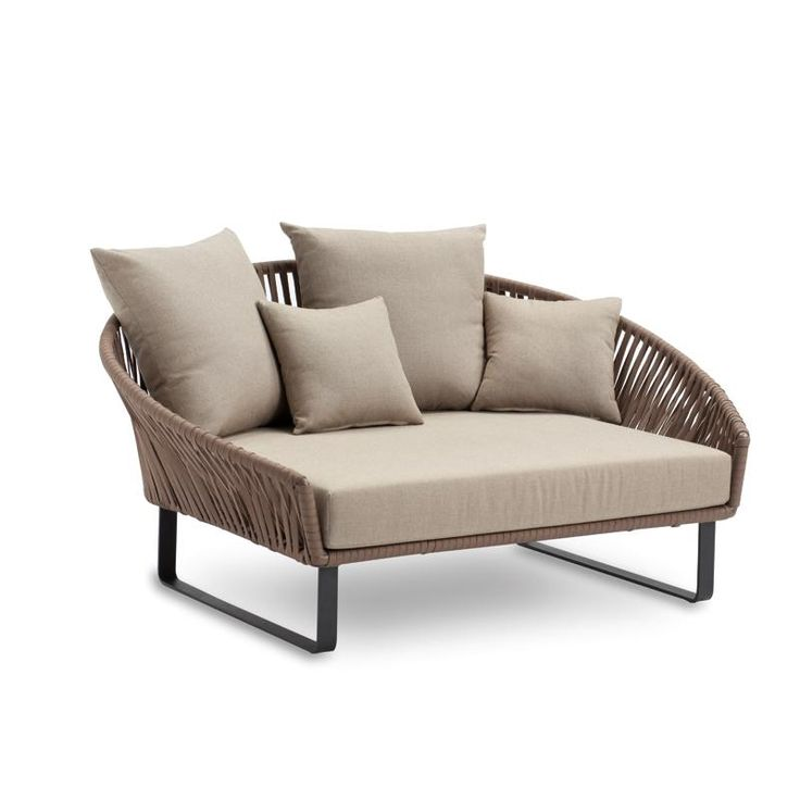 garden daybed by KETTAL the BITTA in gorgeous shades of taupe