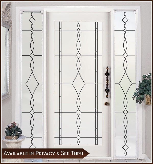 ALLURE Privacy Frosted Window u0026 Door Film with Leaded Glass Look - Static Cling  sc 1 st  Pinterest & 19 best Window Film Ideas images on Pinterest   Window privacy ... pezcame.com
