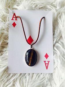 Tigers EYE Stone Necklace   eBay
