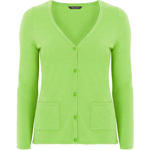 Super Soft V Neck Cardigan (150 HKD) ❤ liked on Polyvore featuring tops, cardigans, green cardigan, cardigan top, v-neck tops, v-neck cardigan and v neck cardigan