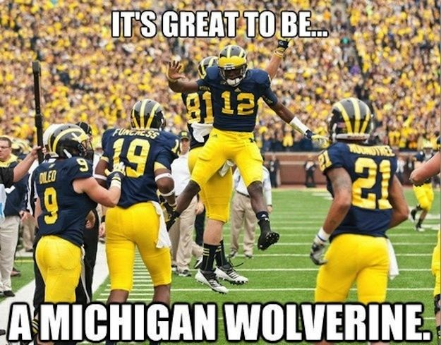 And obviously, you feel that: | The 35 Ways You Know You're A Michigan Wolverine