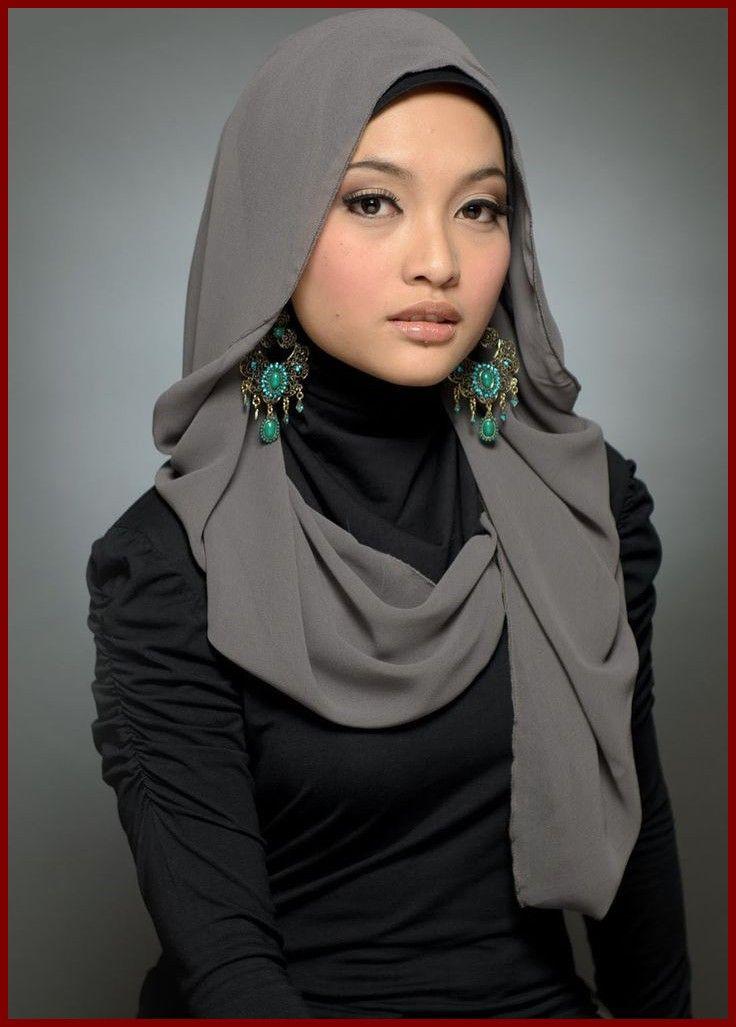 Bella musulmana asiática.