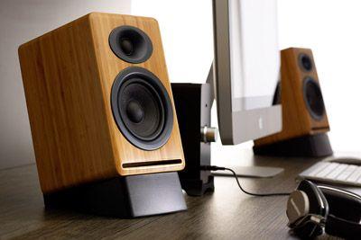 Audioengine P4 Premium Passive Bookshelf Speakers - Bamboo (Pair) - Speakers By Type - AudioVisual Online - Home Cinema and Hifi Specialists...