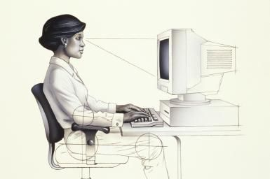 Is Your Computer a Pain in your Neck? Maybe It's Your Computer Ergonomics.: Desk height should be level with your comfortable elbows.