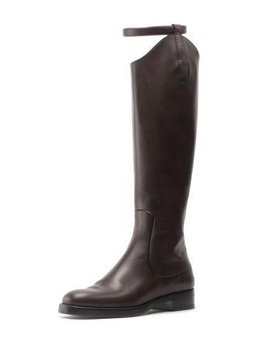 Gucci Victoria Equestrian Riding Boot in Cocoa $1,495.00 Sale $375.00 | Amaze
