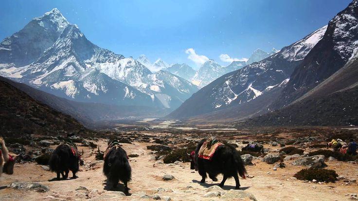 Trek the mountains of Khumbu, Nepal in Google Maps♡*¨)¸.·´¸.·*´¨) ¸.·*´¨