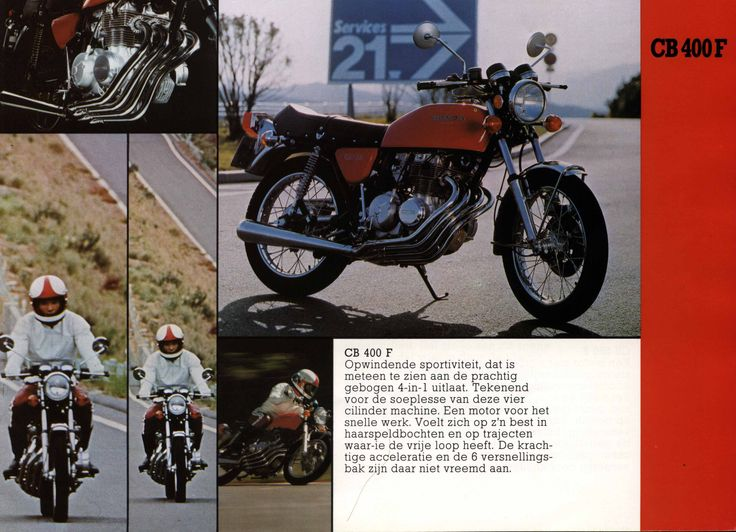 Dutch text about the Honda CB400F, with some nice pictures