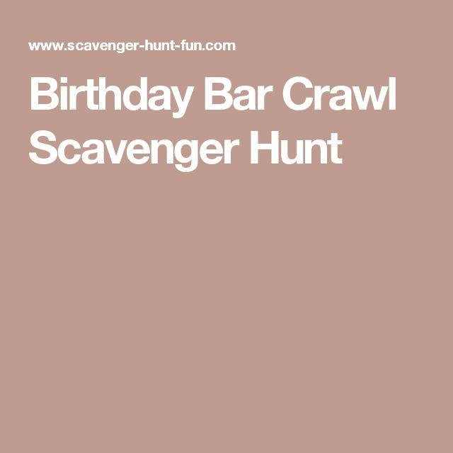 Birthday Bar Crawl Scavenger Hunt