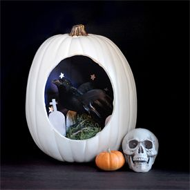 craft pumpkins are ripe for making spooky halloween dioramas - Halloween Diorama Ideas