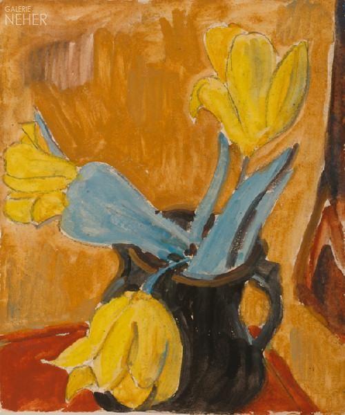 Erich Heckel | Duits expressionistisch schilder, tekenaar en graficus, (1883-1970) Hij studeerde eerst architectuur en legde zich pas later toe op de schilderkunst, mede onder invloed van Kirchner en Schmidt-Rottluff, met wie hij in 1905 de avant-gardistische groep die Brücke stichtte. Hij werkte in de eerste jaren vooral met Kirchner en Bleyl samen. Zij deelden een atelier en schilderden dezelfde modellen. - 1922