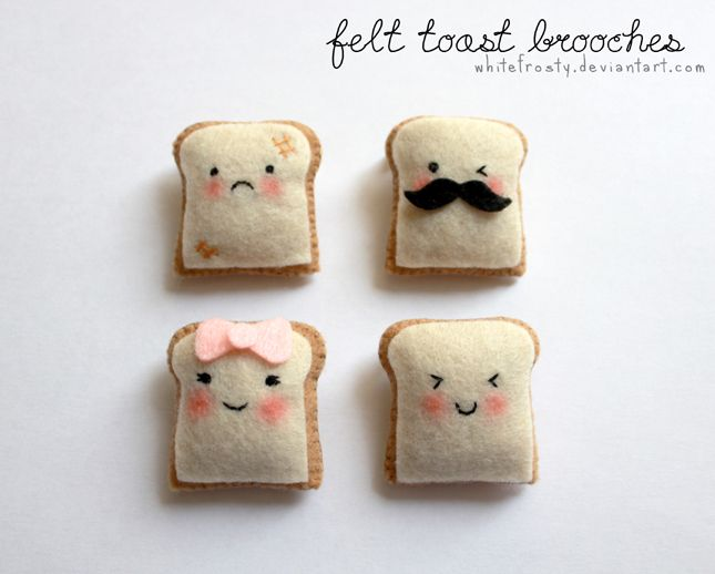 kawaii toast pins :)