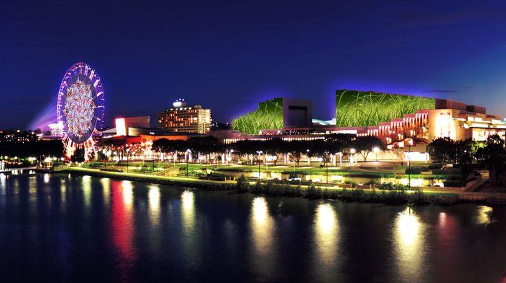 Beautiful South Bank and the Wheel of Brisbane.http://bit.ly/1n5taw5  #Brisbane #Queensland #Australia #travel