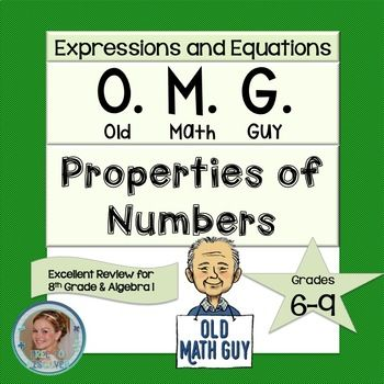This properties of numbers card game is modeled after the traditional card game, Old Maid. Students play Old Math Guy in groups. Students will demonstrate their ability to match names and symbols of properties of numbers. Includes: reflexive, symmetric, transitive, substitution, additive identity, additive inverse, multiplicative identity, multiplicative inverse, multiplicative property of zero, commutative properties, associative properties, and properties of equality. Created by Free to…