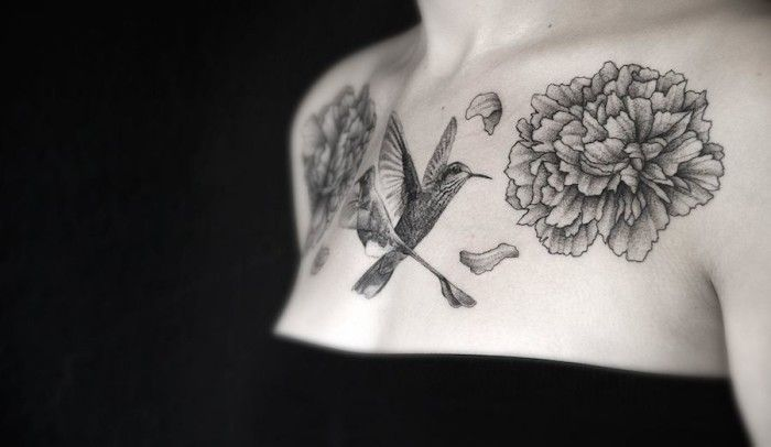 Eleganti tatuaggi ispirati ad animali illustrazioni e geometria, di Gael Ricci