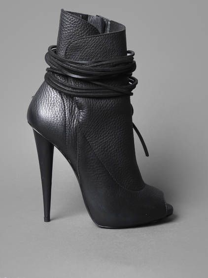 pinterest.com/fra411 #shoes #heels SS14 Collections w/ Giuseppe Zanotti boots on a 11,5 cm heel with side zip closure and multi lace detail on top