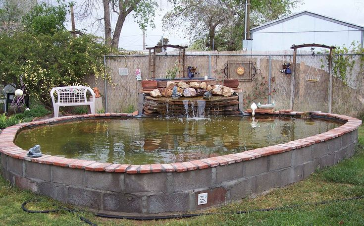 10 best images about cinder block ideas on pinterest for Pool with koi pond