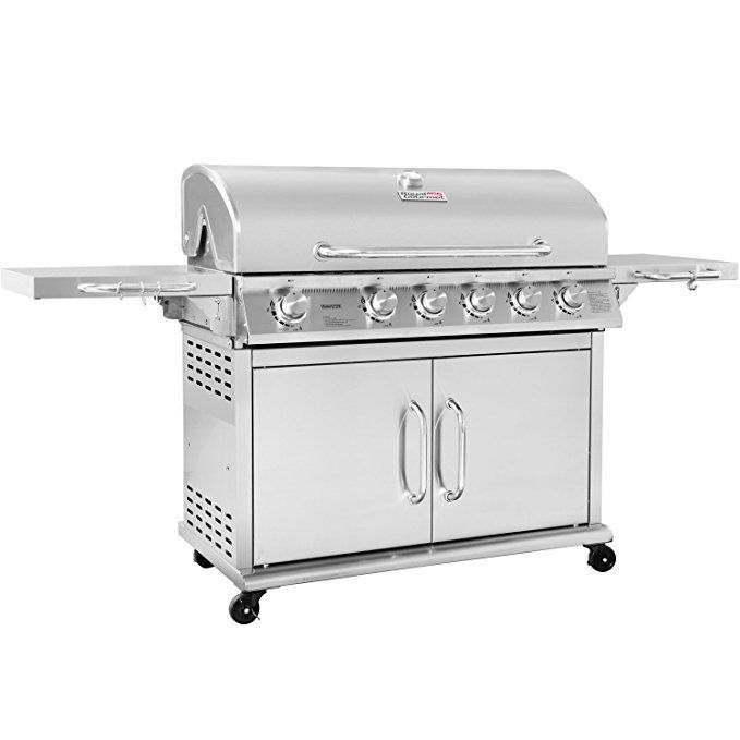 Royal Gourmet Pre Assembled Stainless Steel 6 Burner Propane Gas Grill With Infrared Burner Gas Grill Propane Gas Grill Propane