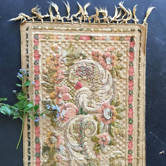 Antique Victorian table runner  early 1900s  gorgeous soft