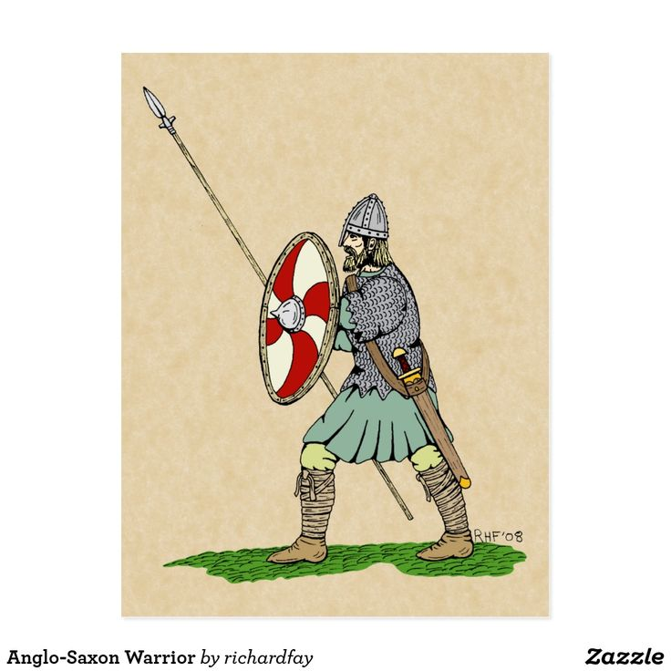 Anglo-Saxon Warrior Postcard.  50% off with code APRILSHOWERS  Offer is valid through April 27, 2017 11:59 PM PT.  #zazzle #postcard #Anglo_Saxon #Saxon #Anglo_Saxon_warrior #Saxon_warrior #Dark_Age_warrior #winged_spear #round_shield #byrnie