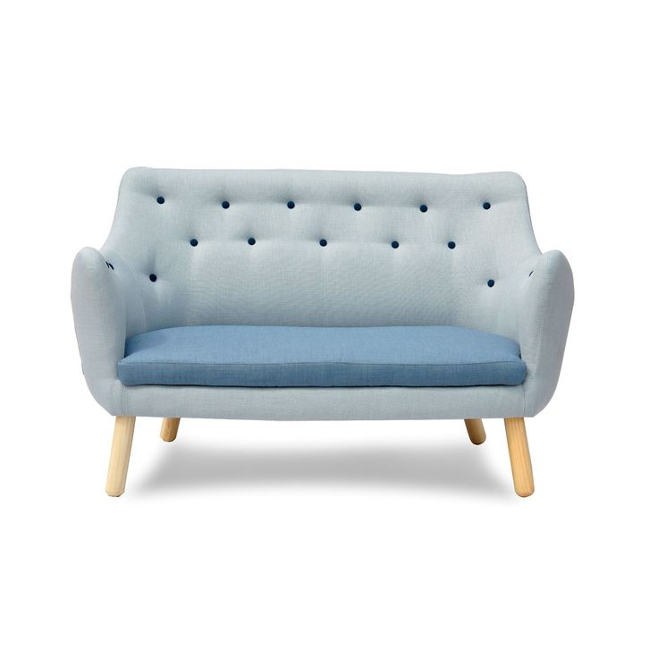Sectional Sofa A reproduction of the midcentury Poet Sofa by Finn Juhl this ash wood design features hand sewn upholstery with contrasting button tufting
