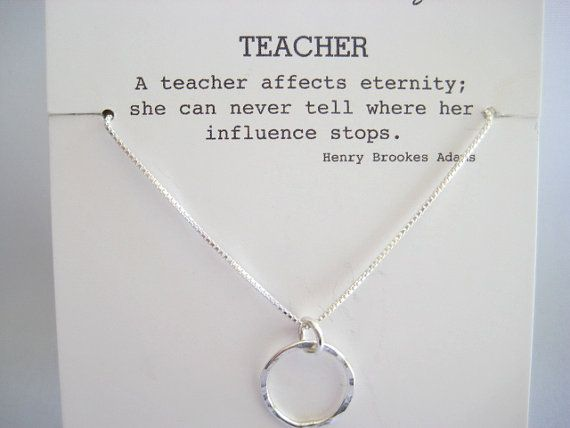 Gift for Your Teacher, Teacher Mentor Gift, Teacher Retirement Gift, Professor Gift, Student Teacher Gift, Eternity Necklace, Karma Necklace