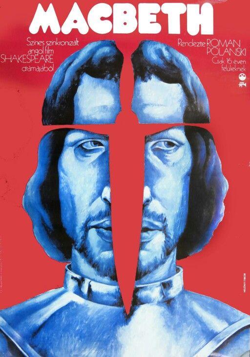Affiche hongroise pour Macbeth par Polanski 1971
