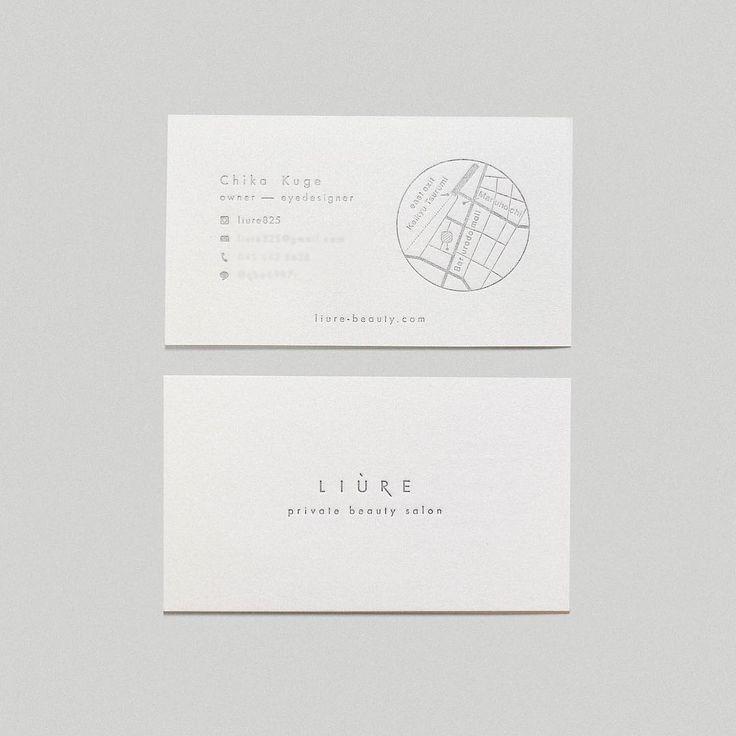 . 名刺は地図をいれるとのことで、 こちらもシンプルにとのことで、 地図が名刺のメインデザインとして 引き立つよう、 地図のデザインもこだわってます。 こちら活版印刷、文字は銀色なので、 傾けて光をあてるとほんとに 上品です。 #Design#designer#work#artwork#シンプル#simple#paper#マツエク#眉エク#nameplate#logo#shopcard#liure#privertsalon#artdirection#iyo_design#活版印刷#名刺#名刺デザイン