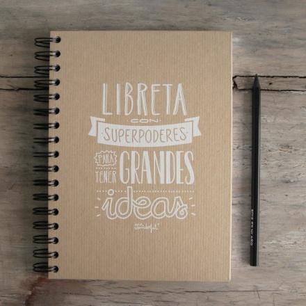 Cuadernos de Mr Wonderful. Libreta de Superpoderes!! No se me puede olvidar seguir apuntando todas las ideas en mi cuaderno de ideas!