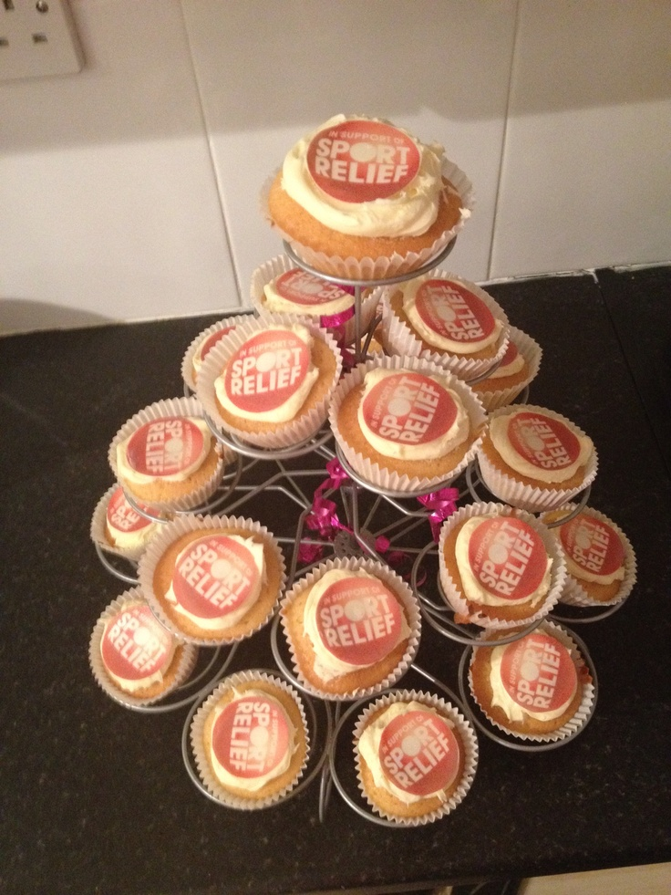 Sport Relief cakes