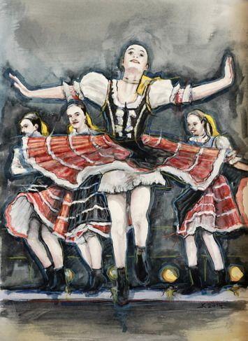 Ľubomír Korenko, akvarel Tanec v duši, 42x60 cm, 150 €, na vyžiadanie