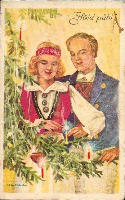 Тему для, советские открытки эстония