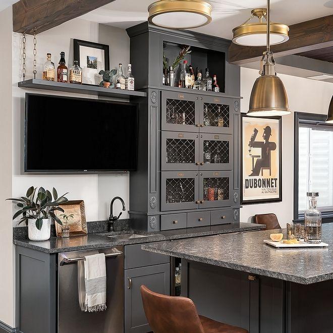 basement bar benjamin moore owl gray oc 52 wall paint on basement bar paint colors id=80165