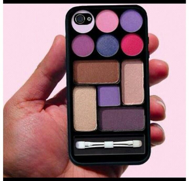 haha makeup compact in an iPhone case