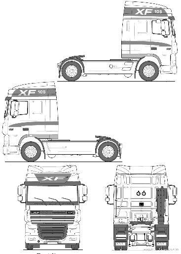daf xf 105 blueprint