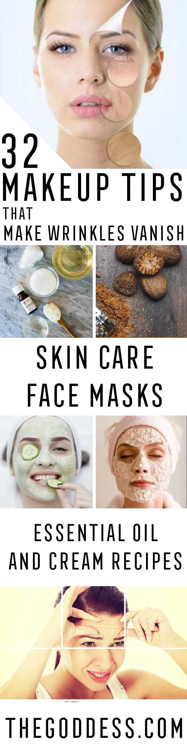Makeup Tips That Make Wrinkles Vanish - Make Up and Anti Aging Skin Care Home Remedies and Essential Oils - How To Get Faces To Look Years Younger - Skincare Products For Women to Combat Crows Around the Eyes - https://thegoddess.com/makeup-tips-to-make-wrinkles-vanish
