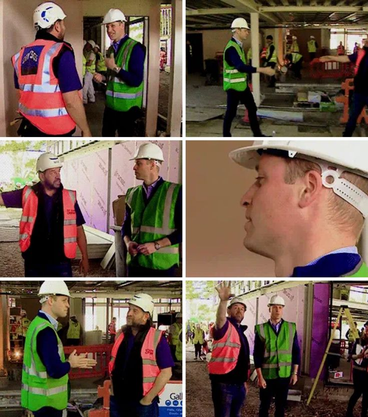 The Duke of Cambridge talks to presenter Nick Knowles as