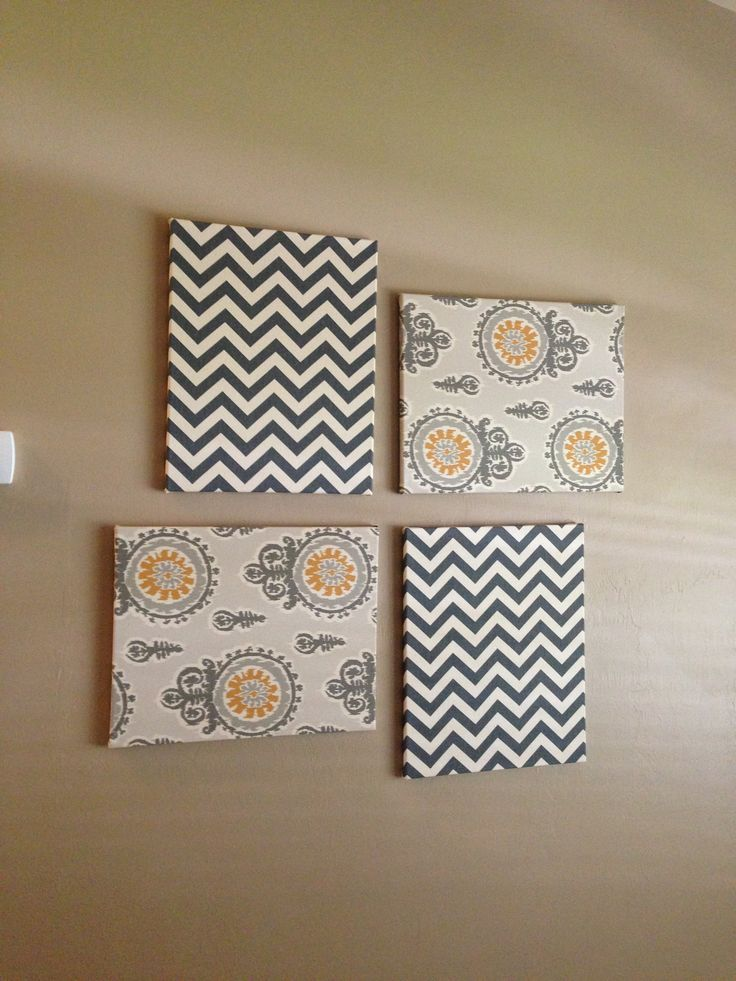 Diy Fabric On Canvas Wall Art : Best ideas about fabric covered canvas on