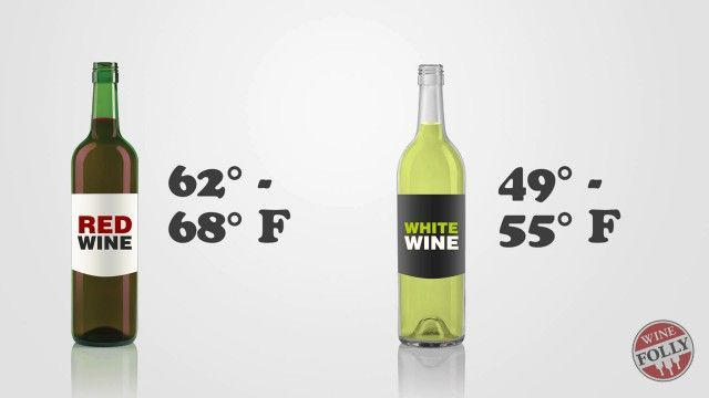 The Perfect Temperature for Drinking Red and White Wine | Infographic
