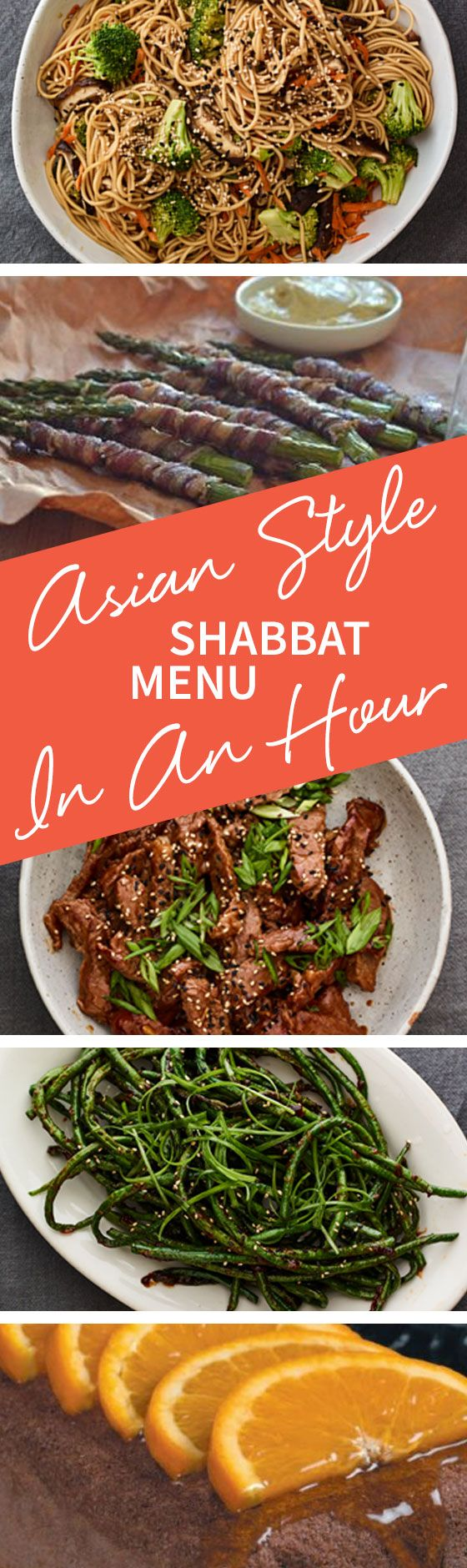 The main course of this Shabbat menu with Beef, Lo Mein & Long Beans can be made to serve quick! Learn all the recipes we used in our Asian Style Shabbat Menu In An Hour! http://www.joyofkosher.com/2016/12/asian-style-shabbat-menu-in-an-hour/
