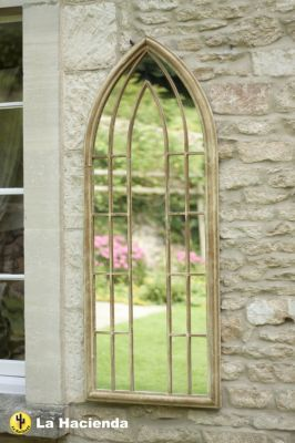 Grand Miroir de Jardin Gothique - Effet Pierre