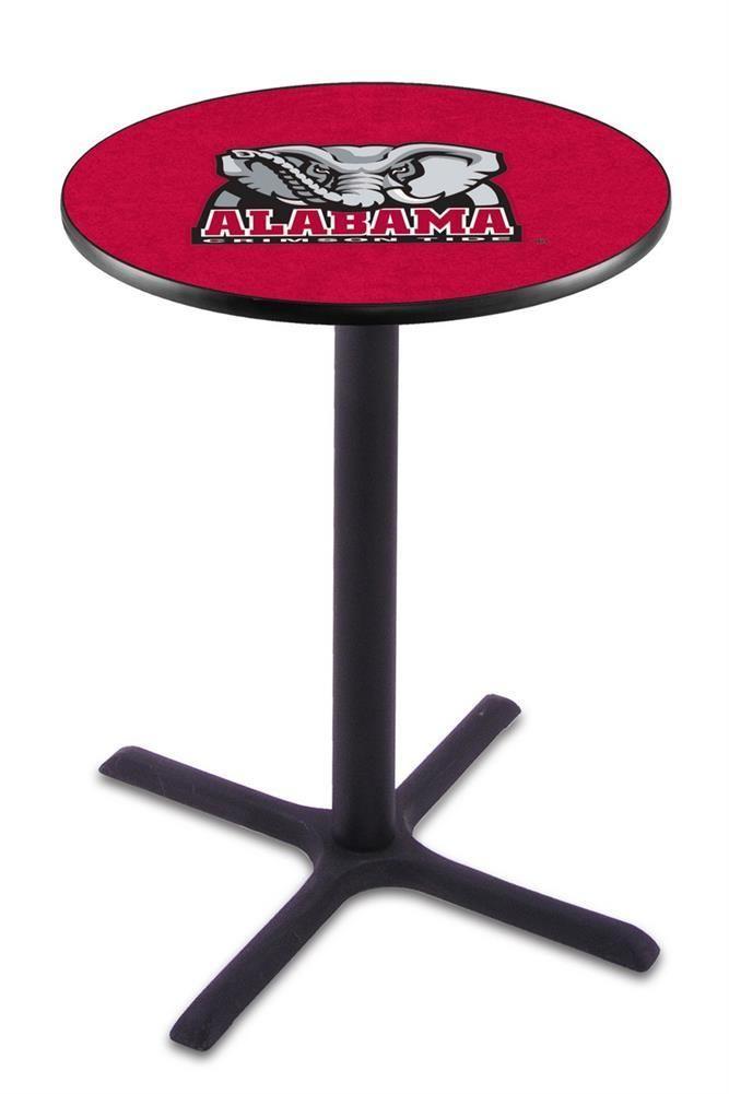 Alabama Crimson Tide Bama Black Pub Table