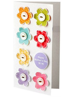 Flowers & buttons card