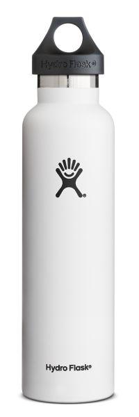 Hydro Flask 710 ml Standard Mouth, isolert drikkeflaske i rustfritt stål, i fargen Graphite. rnrnHydro Flask isolert drikkeflaske er laget i solid, rustfritt stål. Flasken har doble vegger og er laget for å holde varmt innhold varmt i mange timer, og k