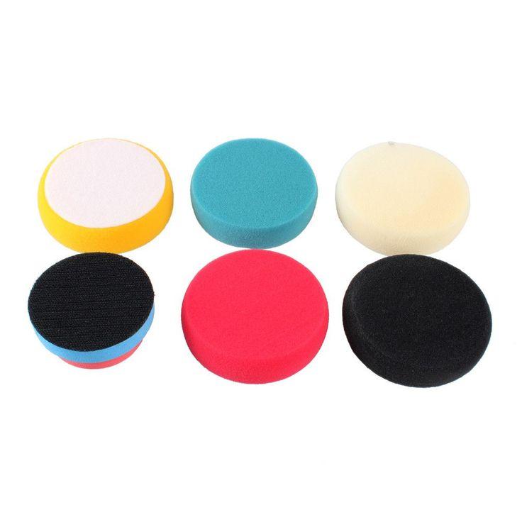 5+1 Soft Auto Car Waxing Sponge Buffing Pad Kit for Car Polishing Wax Wheel Car Tools