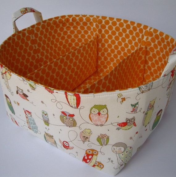 fabric basket with divider