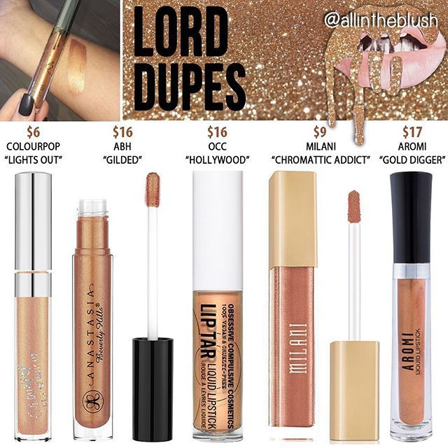 WEBSTA @ allintheblush - LORD Lipstick Alternatives ✨ I can't promise these are going to be exact but I studied swatches and tried to find close alternatives to this gold lippie that is sold out along with the rest of the Birthday collection. Did any of you buy Lord? I wonder if she named it after the lord himself, @letthelordbewithyou