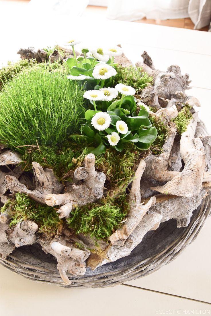 Frühlingsdeko Basteln Mit Naturmaterialien Selber Machen Mit